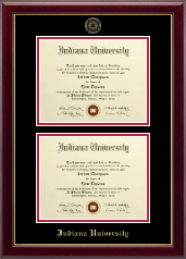Indiana University - Purdue University Diploma Frame - Double Diploma Frame in Gallery