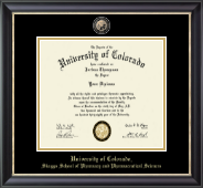 University of Colorado Diploma Frame - Masterpiece Medallion Diploma Frame in Noir
