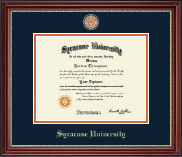 Syracuse University Diploma Frame - Masterpiece Medallion Diploma Frame in Kensington Gold