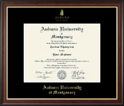 Auburn University Montgomery Diploma Frame - Gold Embossed Diploma Frame in Studio Gold