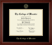 The College of Wooster Diploma Frame - Gold Embossed Diploma Frame in Cambridge