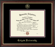 Colgate University Diploma Frame - Gold Embossed Diploma Frame in Studio Gold