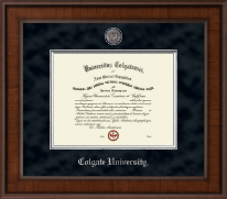 Colgate University Diploma Frame - Presidential Pewter Masterpiece Diploma Frame in Madison