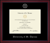 University of St. Thomas Diploma Frame - Silver Embossed Achievement Edition Diploma Frame in Academy