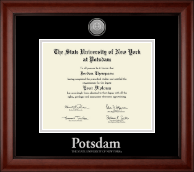 State University of New York at Potsdam Diploma Frame - Silver Engraved Medallion Diploma Frame in Cambridge