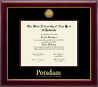 State University of New York at Potsdam Diploma Frame - Gold Engraved Medallion Diploma Frame in Gallery