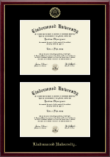 Lindenwood University Diploma Frame - Double Diploma Frame in Galleria