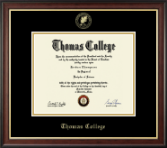 Thomas College Diploma Frame - Gold Embossed Diploma Frame in Studio Gold