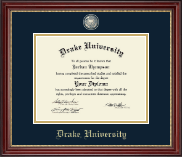 Drake University Diploma Frame - Masterpiece Medallion Diploma Frame in Kensington Gold
