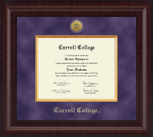 Carroll College at Montana Diploma Frame - Presidential Gold Engraved Diploma Frame in Premier