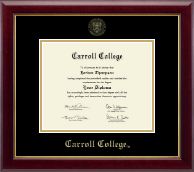 Carroll College at Montana Diploma Frame - Gold Embossed Diploma Frame in Gallery