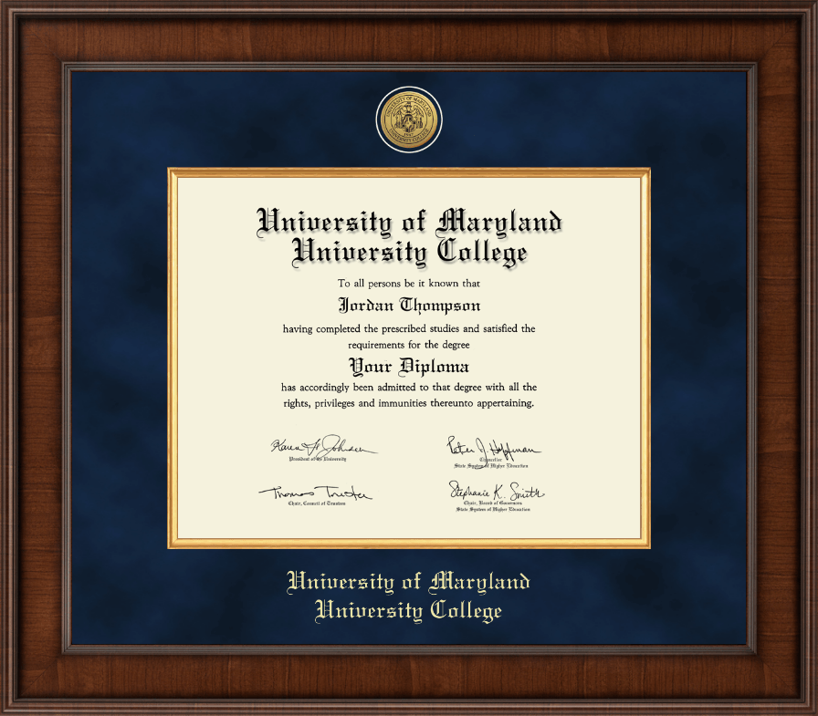 University of maryland university college diploma frames university of maryland university college diploma frame presidential gold engraved diploma frame in madison yadclub Choice Image