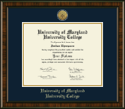 University of Maryland University College Diploma Frame - Gold Engraved Medallion Diploma Frame in Brentwood
