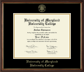 University of Maryland University College Diploma Frame - Gold Embossed Diploma Frame in Williamsburg