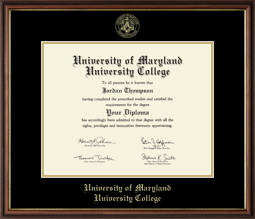 University Of Maryland College Gold Embossed