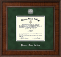 Boston State College Diploma Frame - Presidential Silver Engraved Diploma Frame in Madison