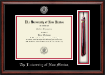 The University of New Mexico Diploma Frame - Silver Engraved Medallion and Tassel Diploma Frame in Southport