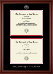 The University of New Mexico Diploma Frame - Double Diploma Frame in Cambridge