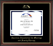 American Association for Marriage and Family Therapy Certificate Frame - Gold Embossed Certificate Frame in Studio Gold