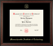 Massachusetts Institute of Technology Diploma Frame - Gold Embossed Diploma Frame in Studio
