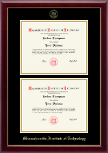 Massachusetts Institute of Technology Diploma Frame - Double Document Diploma Frame in Gallery
