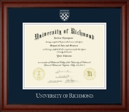 University of Richmond Diploma Frame - Silver Embossed Diploma Frame in Cambridge