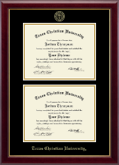 Texas Christian University Diploma Frame - Double Document Diploma Frame in Gallery