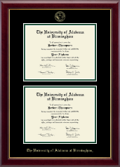 The University of Alabama at Birmingham Diploma Frame - Double Diploma Frame in Gallery
