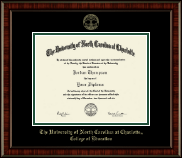 The University of North Carolina at Charlotte Diploma Frame - Gold Embossed Diploma Frame in Ridgewood