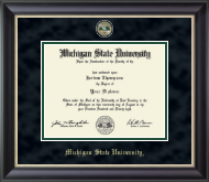 Michigan State University Diploma Frame - Masterpiece Medallion Diploma Frame in Midnight
