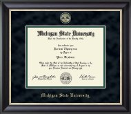 Michigan State University Diploma Frame - Masterpiece Medallion Diploma Frame in Noir