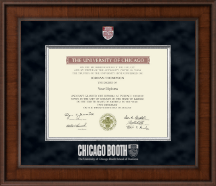 University of Chicago Booth School of Business Diploma Frame - Presidential Masterpiece Diploma Frame in Madison