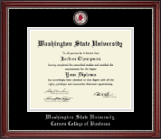 Washington State University Diploma Frame - Masterpiece Medallion Diploma Frame in Kensington Silver