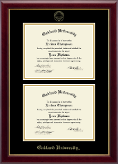 Oakland University Diploma Frame - Double Diploma Frame in Gallery
