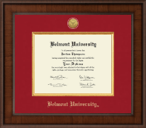 Belmont University Diploma Frame - Presidential Gold Engraved Diploma Frame in Madison