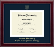 Belmont University Diploma Frame - Gold Embossed Diploma Frame in Gallery