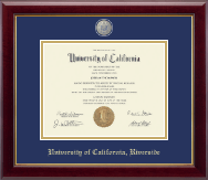 University of California Riverside Diploma Frame - Masterpiece Medallion Diploma Frame in Gallery