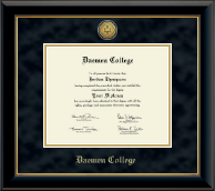 Daemen College Diploma Frame - Gold Engraved Medallion Diploma Frame in Onyx Gold