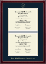 Texas A&M University Corpus Christi Diploma Frame - Double Document Diploma Frame in Gallery