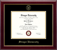 Strayer University Diploma Frame - Gold Embossed Diploma Frame in Gallery