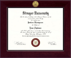 Strayer University Diploma Frame - Century Gold Engraved Diploma Frame in Cordova