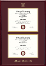 Strayer University Diploma Frame - Double Document Diploma Frame in Galleria