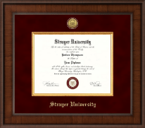 Strayer University Diploma Frame - Presidential Gold Engraved Diploma Frame in Madison