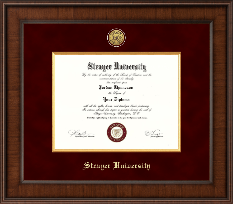strayer university diploma frame presidential gold engraved diploma frame in madison