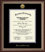 Furman University Diploma Frame - Gold Engraved Medallion Diploma Frame in Hampshire