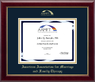 American Association for Marriage and Family Therapy Certificate Frame - Gold Embossed Certificate Frame in Gallery