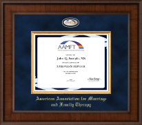American Association for Marriage and Family Therapy Certificate Frame - Presidential Masterpiece Certificate Frame in Madison