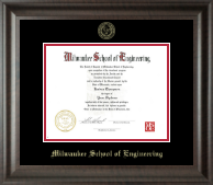 Milwaukee School of Engineering Diploma Frame - Gold Embossed Diploma Frame in Acadia
