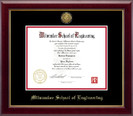 Milwaukee School of Engineering Diploma Frame - Gold Engraved Medallion Diploma Frame in Gallery
