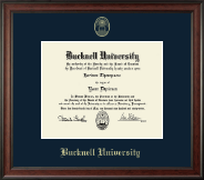 Bucknell University Diploma Frame - Gold Embossed Diploma Frame in Studio
